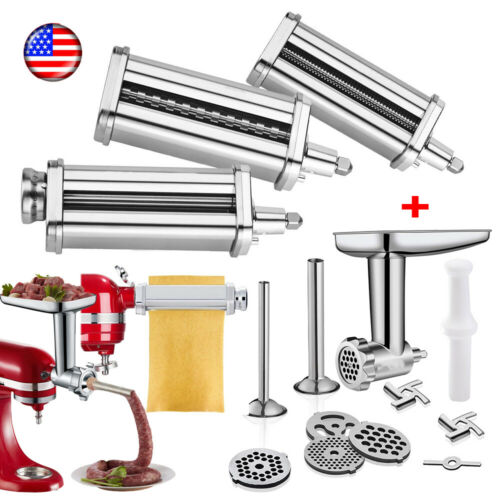 For Kitchenaid Stand Mixer Meat Grinder Pasta Roller Cutter