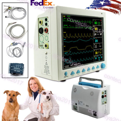 Vet Veterinary Patient Monitor Multi-parameter Monitor,ecg,spo2,nibp,resp,temp