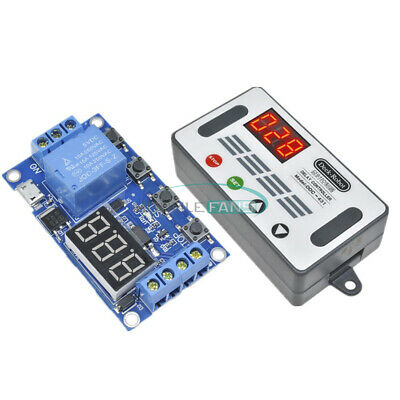 5v Automation Delay Timer Controller Led Switch Relay Module Display Micro Usb