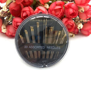 30pcs Hand Sewing Needles Embroidery Mending Craft Sew Case Assorted Sizes New