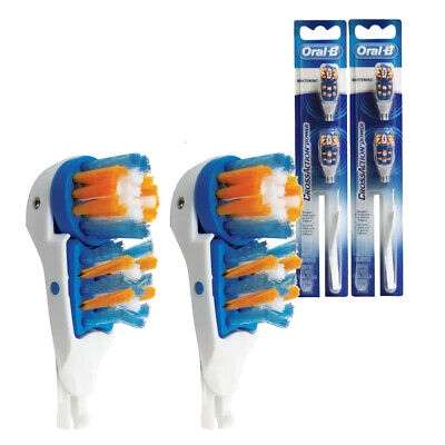 Oral-B CrossAction Power 2 packs of Replacement Heads Indicator Medium Bristles