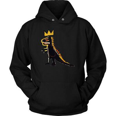 Dinosaur Hoodie Adults (Basquiat Dinosaur n Unisex Hoodie)