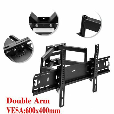 Articulating Tilt Swivel Dual Arm LCD LED TV Wall Mount 32 37 42 50 56 60 65 70""
