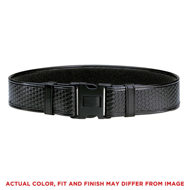 Bianchi 22125 Duty Belt Basket Weave Black Finish Medium 34-40