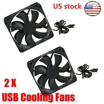 USB Cooling Fan Silent High Airflow Cooler for Router Portable Hard Drive TV Box