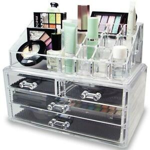 plastic storage containers for makeup