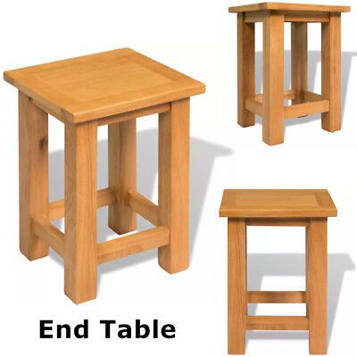 Bedside Table Console Side End Table Nightstand Bedroom Home Furniture Solid Oak Bedroom Square Side Table