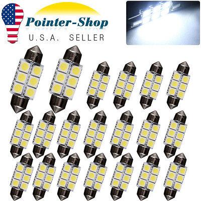 20X Super White 36MM 5050 6SMD Festoon LED Interior Lights Bulbs C5W DE3423 6418