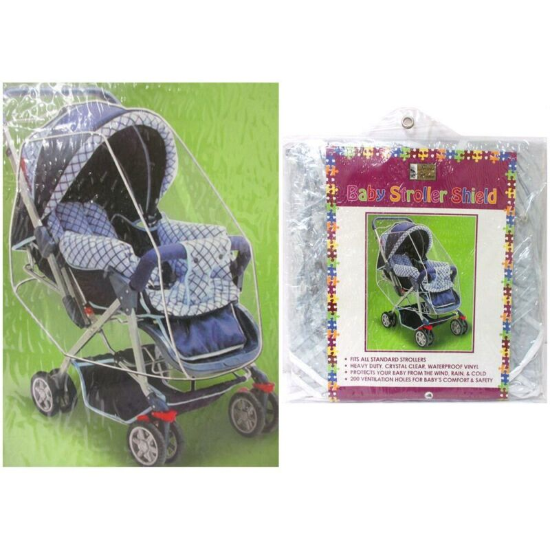 Baby Stroller Shield Waterproof Rain Cover Weather Snow Bug Canopy Universal Fit