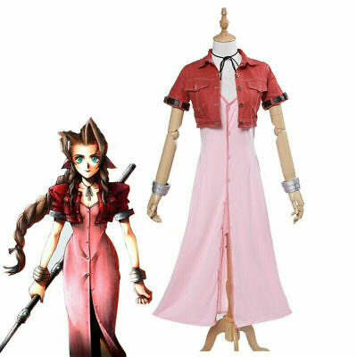 Final Fantasy VII Aeris Cosplay FF7 Aerith Cosplay Costume Full - Final Fantasy 7 Aerith Kostüm