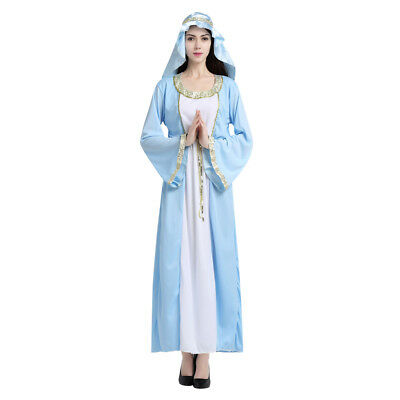 Women's Blue Arab Dress Up Costume Cosplay Halloween Party Outfit
