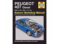 Haynes Manual FOR Peugeot 407 1.6 2.0 Diesel 2004-2011 (