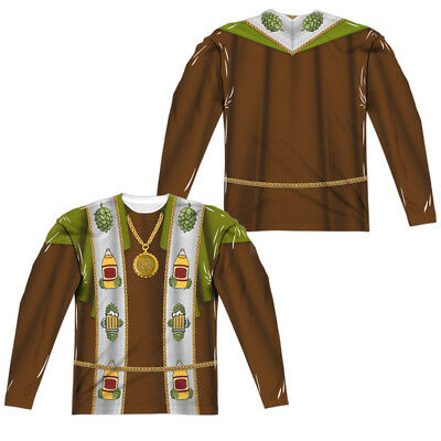 BEER PRIEST COSTUME Adult Men's Long Sleeve Tee Shirt SM-3XL Halloween  - Halloween Priest