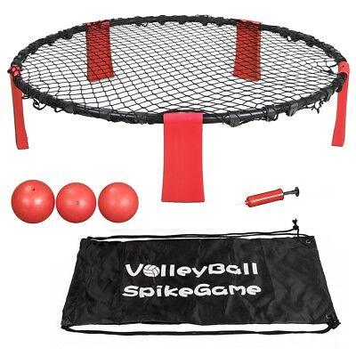 Striker Beach Volleyball Spike Game | Includes Ball (3) Net & Pump & Carry Bag - Beach Ball Games