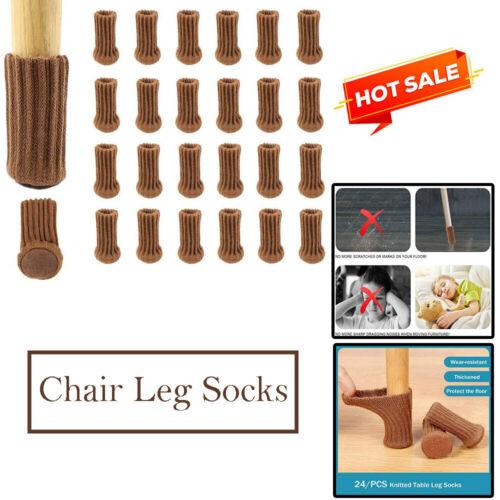 24PCS Chair Leg Socks Furniture Pads High Elastic Knitted Floor Protectors