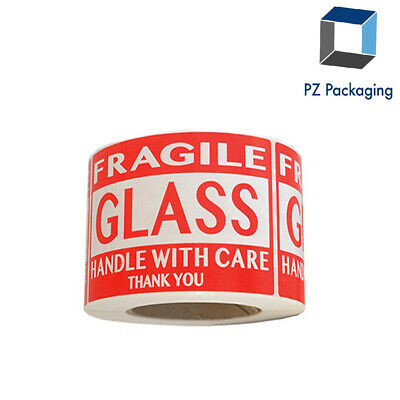 Fragile Glass Handle With Care Labels 2x3 500roll - Shipping Labels