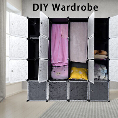 DIY Plastic Storage Wardrobe Shoe Organizer Shelves Unit Hanging Home Furniture