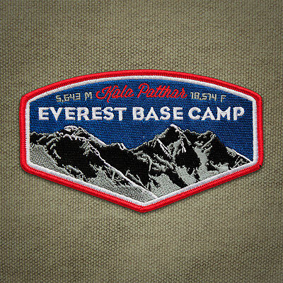 Everest Base Camp Embroidered Mountain Patch