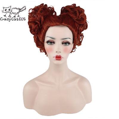 CrazyCatCos Hocus Pocus Winifred Sanderson wig Red Brown Halloween Costume - Hocus Pocus Winifred Costume