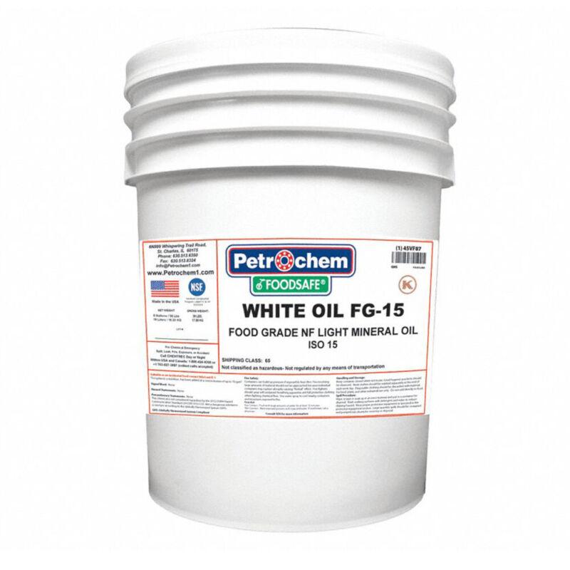 Petrochem WO FG-15-005 Food Grade NF Light Mineral Hydraulic Oil ISO 15 5-Gallon
