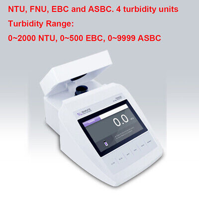 Benchtop Turbidity Meter Turbidimeter Usb Port Ntu Fnu Ebc Asbc Turbidity Units