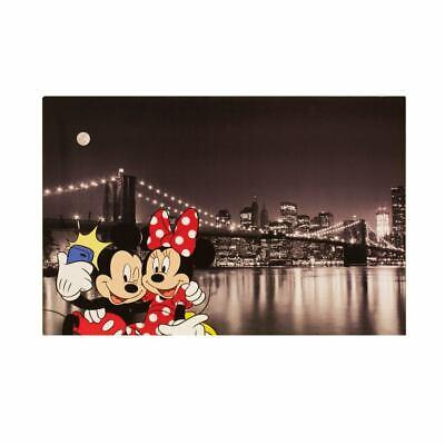 Wandbild Leinwand Keilrahmen Micky Minnie Maus New York 60x90cm