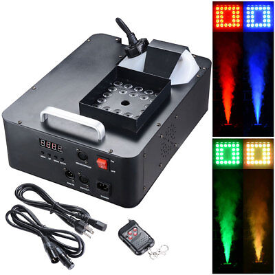 1500W LED Light Smoke Effect Machine Stage Fogger Remote Disco KTV Party Xmas