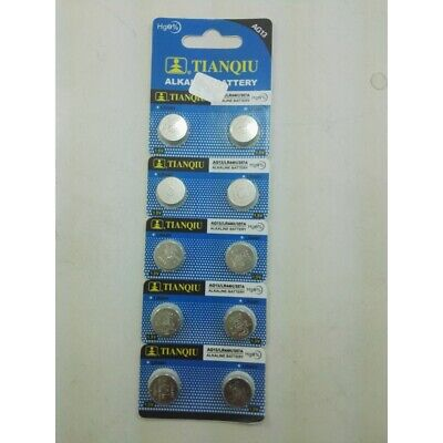 Used, 10 per pack AG13 LR44H 357A 1.5V Alkaline batteries for sale  Shipping to India