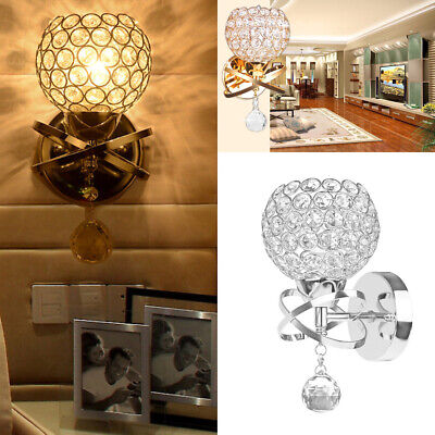 Crystal Wall Light Fixture - EUR Modern LED Crystal Wall Lamp Bathroom Hallway Light Fixture Sconce Lamp New