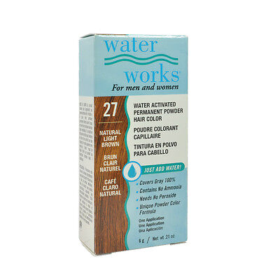 (Water Works Permanent Powder Hair Color #27 - Natural Light Brown 0.21oz)