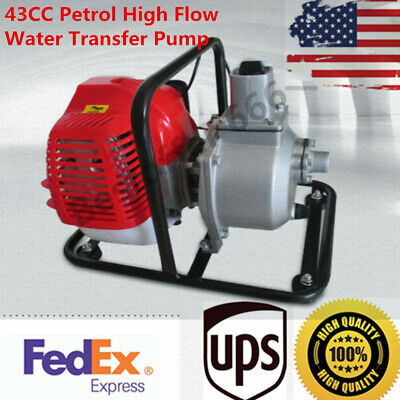 43cc Petrol High Flow Water Transfer Pump Fire Fighting Irrigation Air-cooled