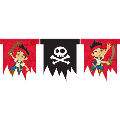 Jake And The Neverland Pirates Happy Birthday Party Flag Bunting Banner 3m Long ()