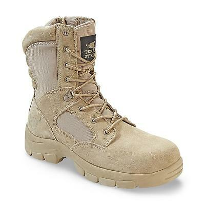 2 Mens Boot - Texas Steer Mens Kamaal 2 Tan Work Boot sand Combat Tactical Military Army shoes