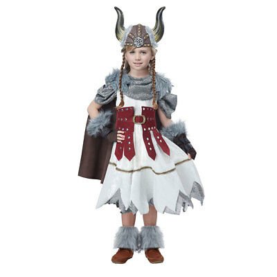 Girls Valorous Viking Halloween Costume