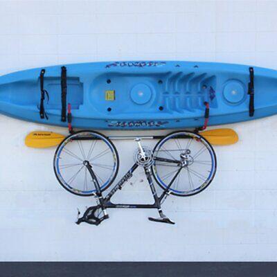 Steel Kayak Ladder Wall Mount Storage Rack Bike Surfboard Canoe Folding Hanger