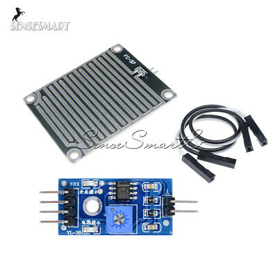 12510pcs Rain Raindrops Detection Sensor Weather Humidity Module For Arduino