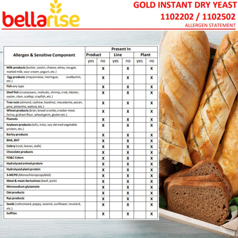 levadura para pan levaduras instantanea seca 1Lb 454g alta calidad hacer panes
