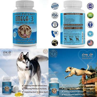 ScruffyPet Pure Omega 3 Wild Fish Oil for Dogs with Vitamin E - Highest EPA...