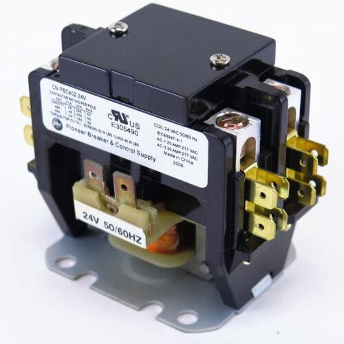New Definite Purpose Contactor 2 Pole 40/50Amp CN-PBC402-24V coil