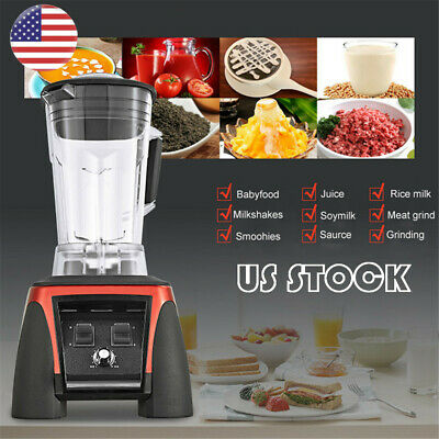 Bpa Free 3hp 2200w Heavy Duty Commercial Blender Mixer Power Juicer Food Us-fast