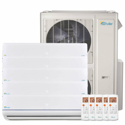 48000 Btu Five Zone Ductless Mini Split Air Conditioner And Heat Pump 22 Seer