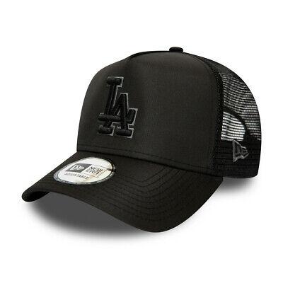 NEW ERA LA DODGERS TRUCKER CAP.9FORTY BLACK A FRAME SNAPBACK  BASEBALL HAT S20 7