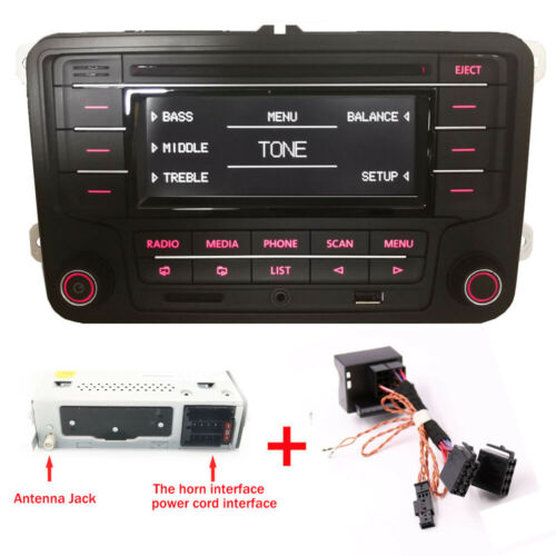Autoradio VW RCN210 BLUETOOTH CD USB AUX GOLF TOURAN POLO TIGUAN CADDY PASSAT CC