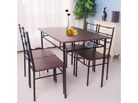 SALE! 5 Pieces Dining Table And 4 Chairs Set Modern Home Kitchen Furniture Dining Room Sets