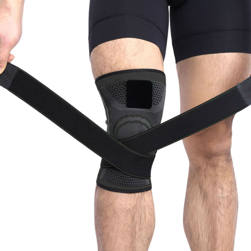 2Knee Sleeve Brace Support Compression Patella Stabilizer Sports Gym Joint Pain