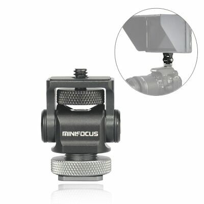 Mini Hot Shoe Stand Monitor Mount,Camera Holder Adapter 180° Upper Rotation 360° Camera Hot Shoe Adapter
