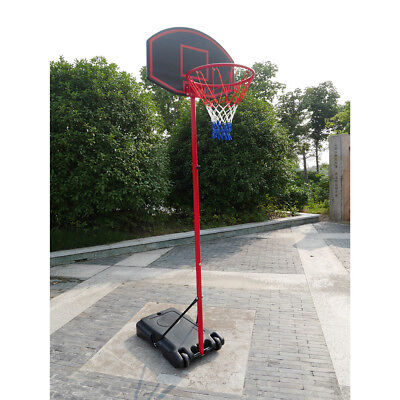 27'' x 18'' Backboard Adjustable Basketball Hoop System Outdoor Stand w/ Wheels - Cheap Basketball Hoop