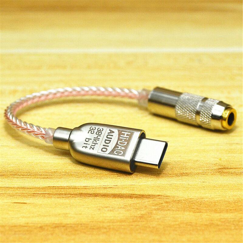 USB-C to 3.5mm Audio DAC Headphone Adapter Portable HiFi 32bit386kHz ALC5686 DSD