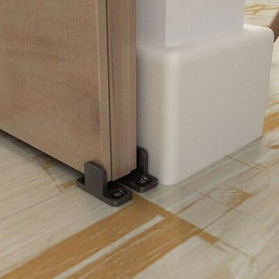 Adjustable Bottom Floor Guide Clip For Sliding Barn Door Hardware Black Smooth
