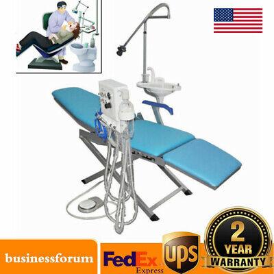 Dental Weak Suction Handpiece Folding Chair Led Turbine Unit Portable 4 Hole Usa